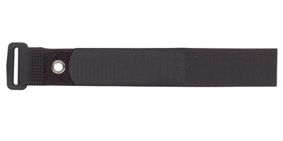 "1"" X 8"" BLACK VELCRO® BRAND VELSTRAP® WITH GROMMET"