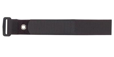 "3/4"" X 8"" BLACK VELCRO® BRAND VELSTRAP® WITH GROMMET"